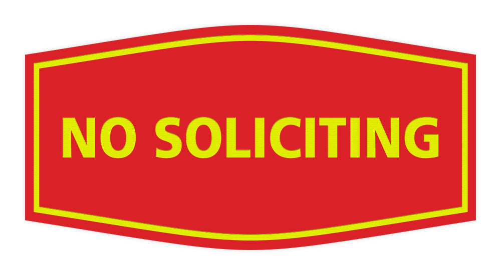 Signs ByLITA Fancy No Soliciting Sign