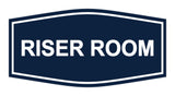 Navy Blue / White Signs ByLITA Fancy Riser Room Sign