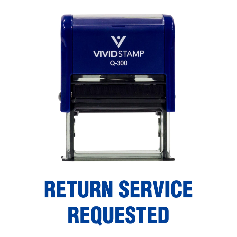 Return Service Requested Self Inking Rubber Stamp