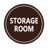 Dark Brown / White Signs ByLITA Circle Storage Room Sign