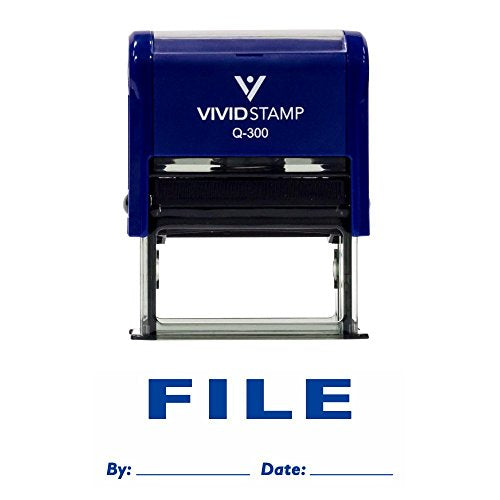 File By Date Self Inking Rubber Stamp