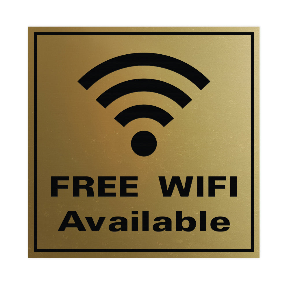 FREE WIFI AVAILABLE Wall / Door Sign