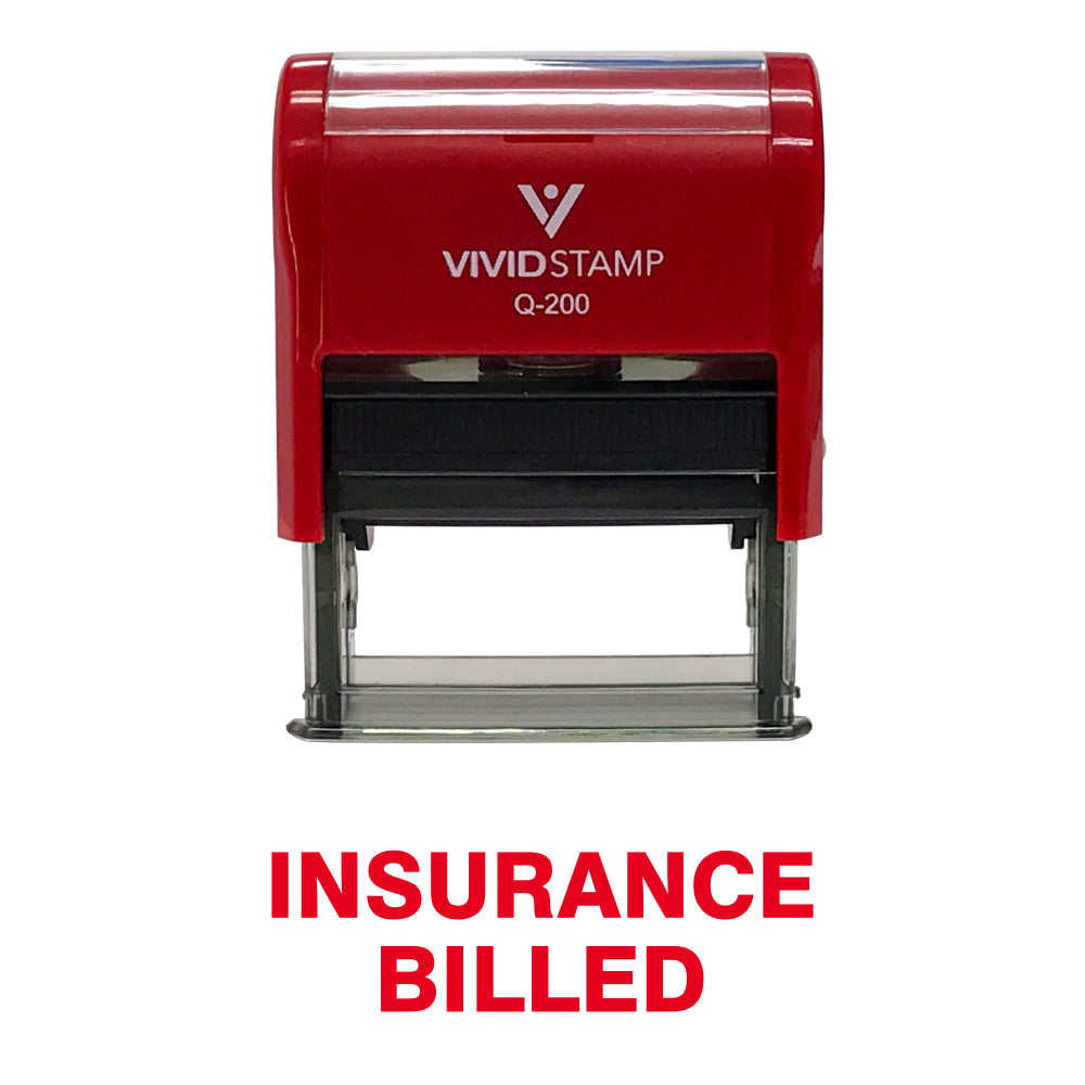 Insurance Billed Self Inking Rubber Stamp