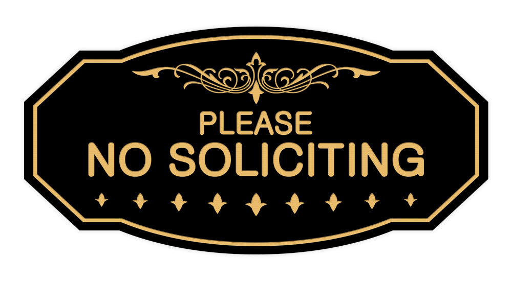 Victorian Please No Soliciting Sign