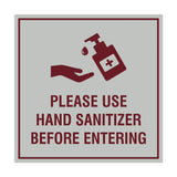Square Please Use Hand Sanitizer Before Entering Sign