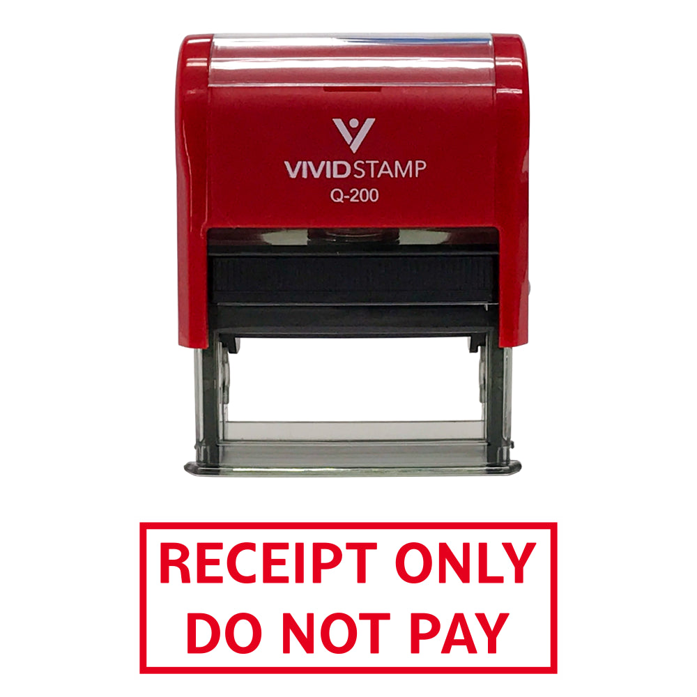 Receipt Only Do Not Pay Self Inking Rubber Stamp