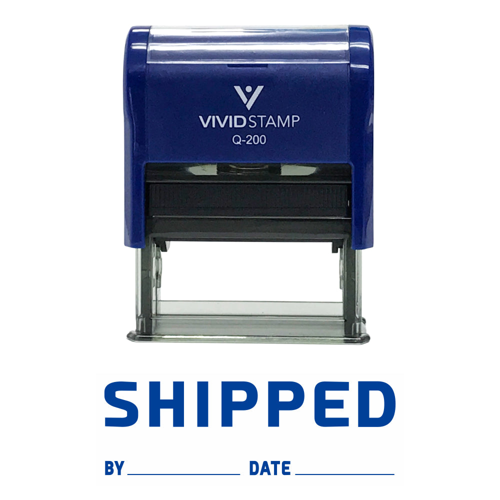 SHIPPED By Date Self Inking Rubber Stamp