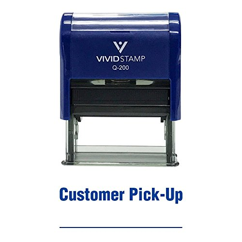 Customer Pick-Up Self Inking Rubber Stamp