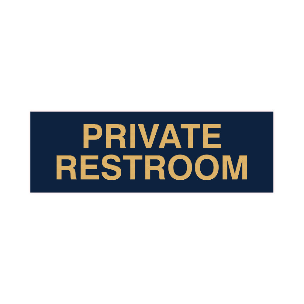 Basic Private Restroom Door / Wall Sign