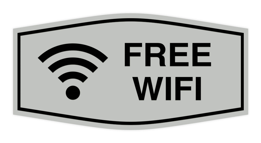 Signs ByLITA Fancy Signs ByLITA Fancy Free Wifi Sign