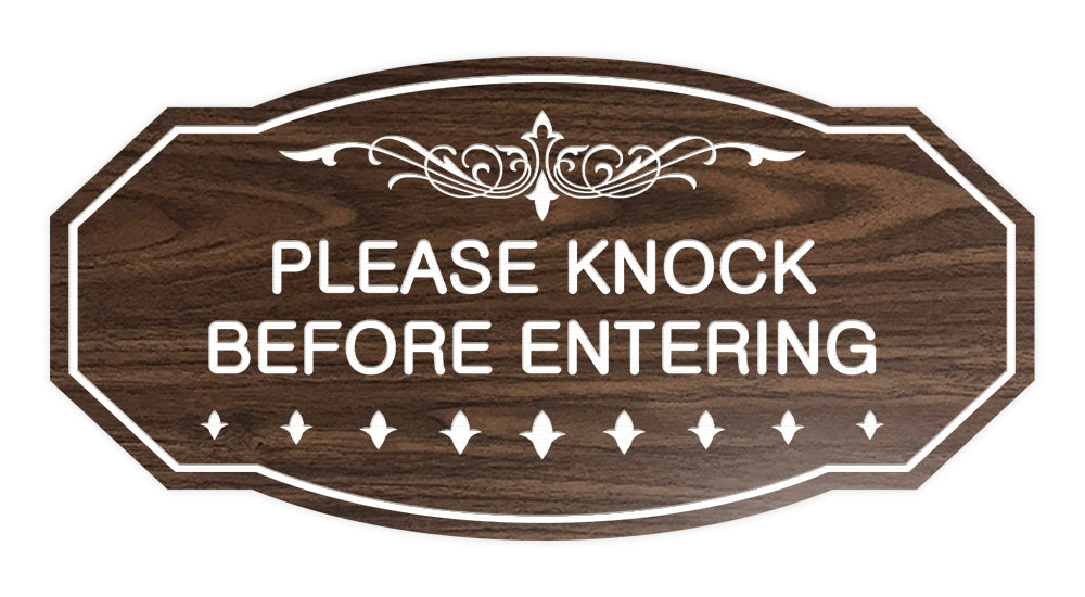 Victorian Please Knock Before Entering Sign