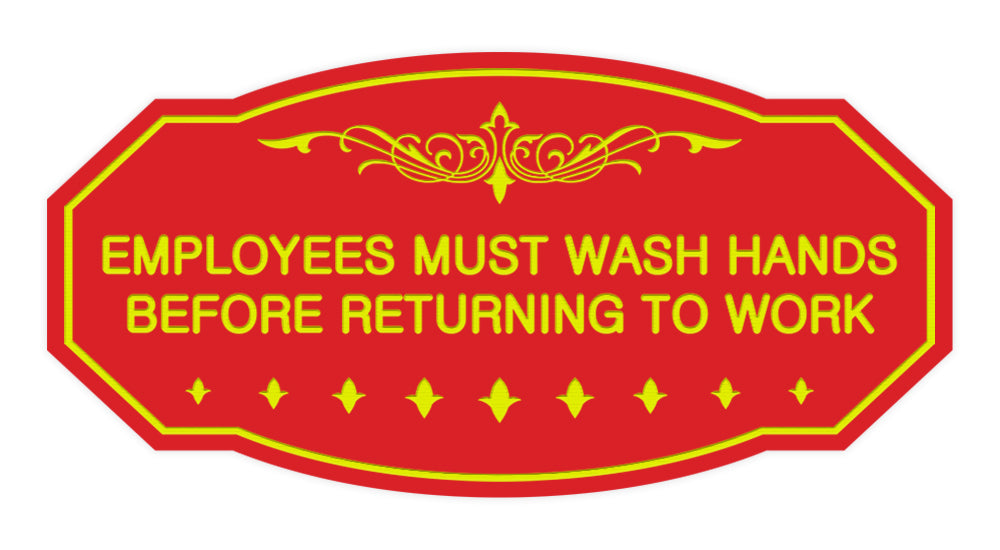 Victorian Employees Must Wash Hands Before Returning To Work Sign