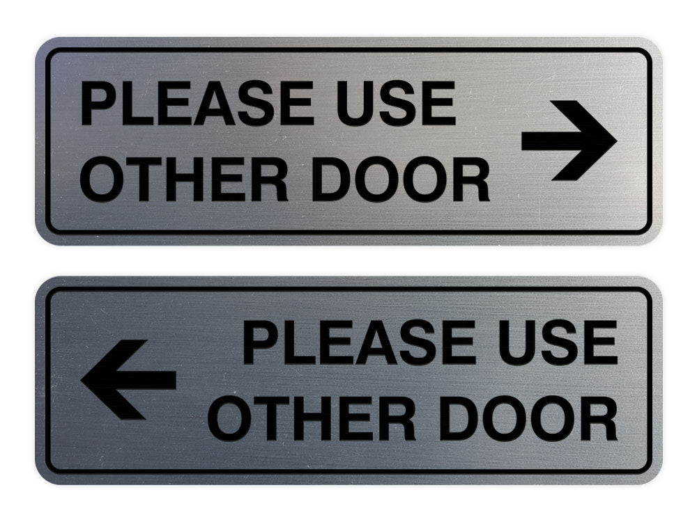Signs ByLITA Standard Please Use Other Door Sign Set