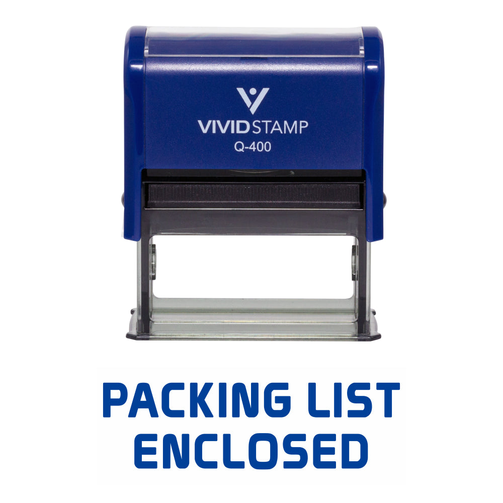 Packing List Enclosed Self Inking Rubber Stamp