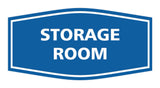 Blue / White Signs ByLITA Fancy Storage Room Sign