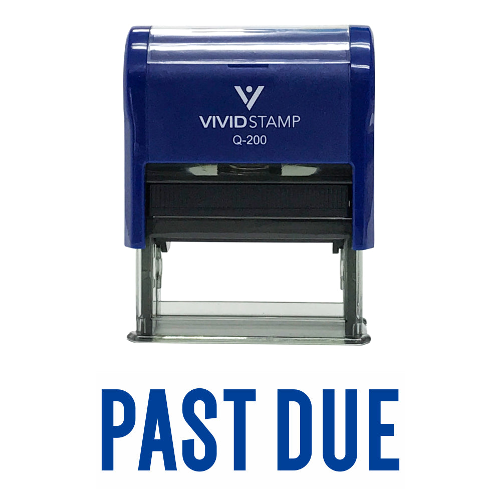 "Classic ""Past Due"" Self Inking Rubber Stamp"