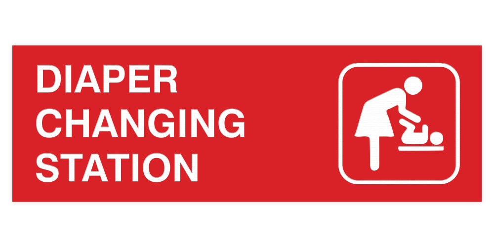Basic Diaper Changing Station Door / Wall Sign