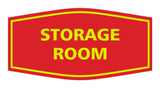 Red / Yellow Signs ByLITA Fancy Storage Room Sign