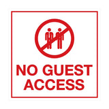 Signs ByLITA Square No Guest Access Sign
