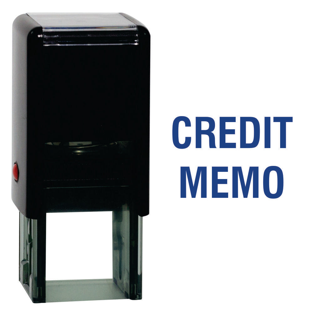 Square Credit Memo Self Inking Rubber Stamp Size 1-5/8""