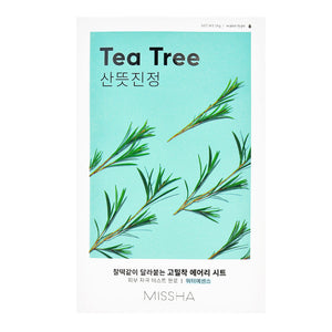 Airy Fit Sheet Mask TEA TREE - Peaches&Crème K-Beauty and Skincare