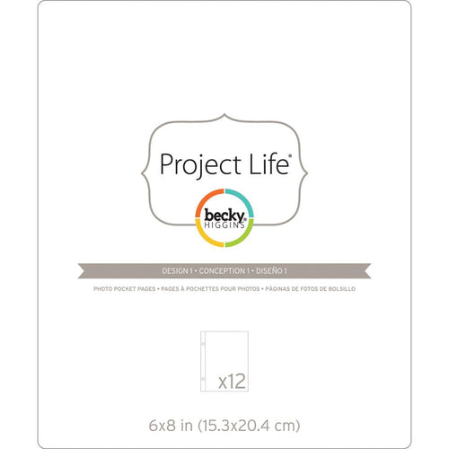 Project Life Photo Pocket Pages - Design 1 6x8