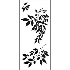 "Crafter's Workshop Slimline Stencil 4""X9"" - Gentle Leaves"