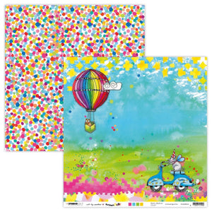 Art by Marlene - Marlene's World 12 x 12 Patterned Paper - Air Balloon