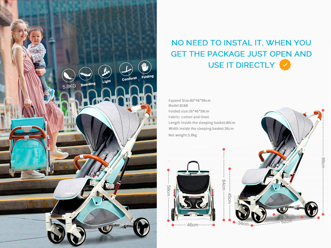 The Lumina ® Umbrella Pram is ideal for those family outings and parties where you will be with your baby for a long time