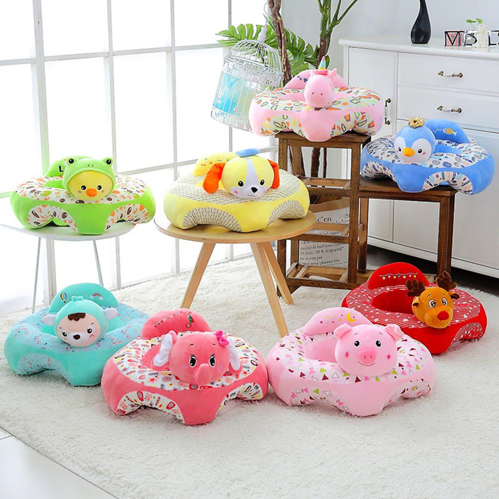 Mini plush sofa to teach your baby to sit ideally to support her back. 34 models available