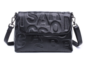 Bag - Leather Letter Crossbody