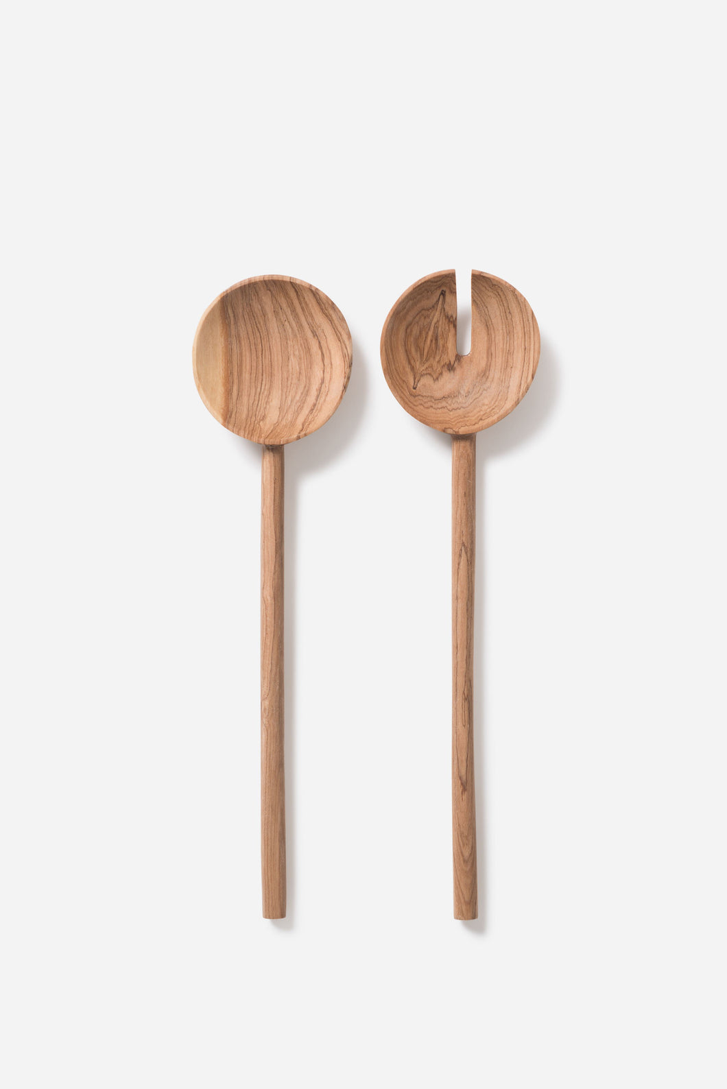 Asili x Citta Salad Servers S/2 Olive Wood