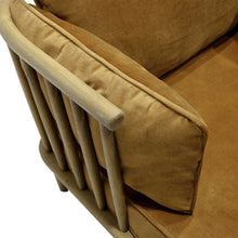 Load image into Gallery viewer, Ankara Armchair - Velvet Teak - 90x73cm