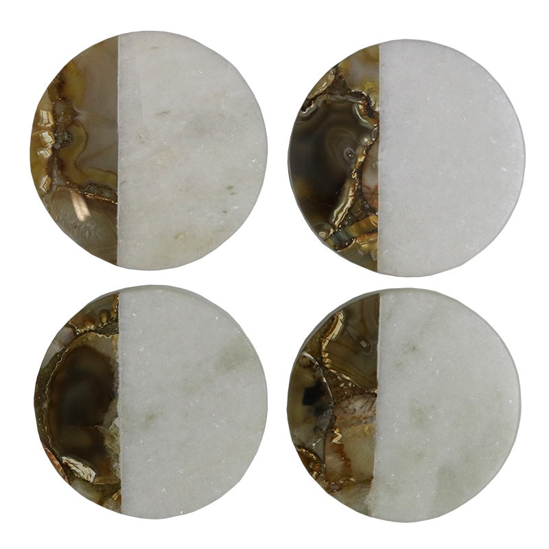 Coaster - Marble/Agate Round - S/4