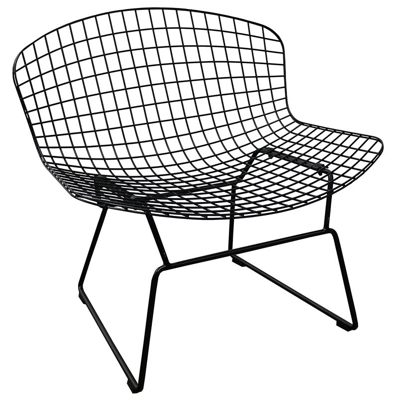 Occasional Chair - Wire Curve - Black