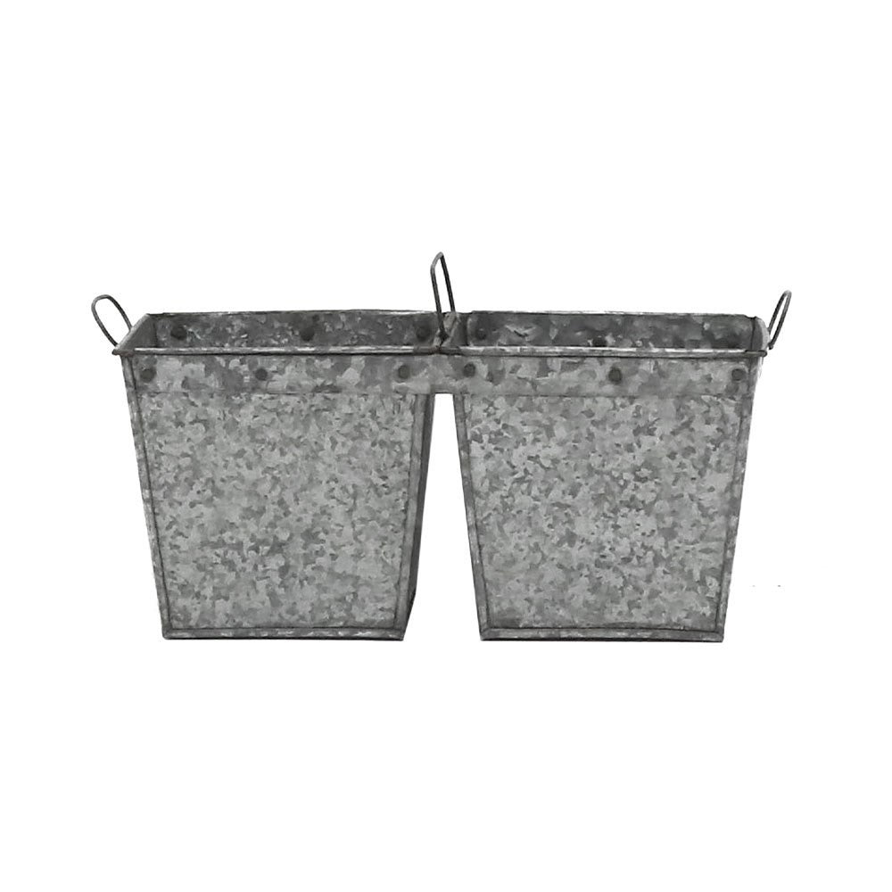 Double Planter - Flint