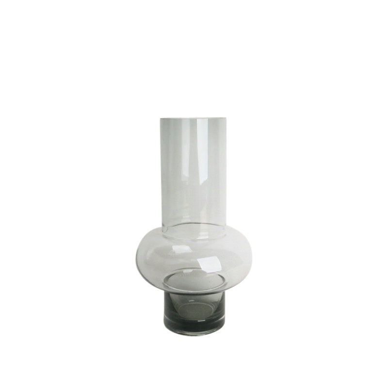 Vase - Single Ridged Smoke - 26cm