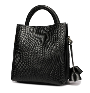 Bag - Weave Black Leather Large