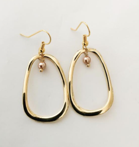 F&C - Earring - Pearl Drop Wave