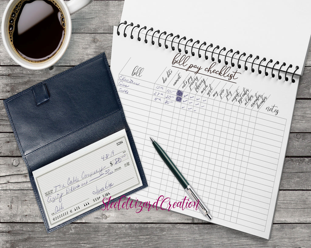 Bill Tracker, Monthly Bill Payment Sheet, Expenses tracker + notes