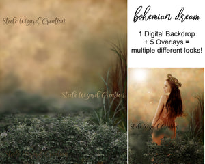 Bohemian Dream Backdrop with PNG Layers
