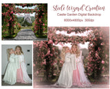 Spring Floral Backdrop, Princess Castle - Steele Wizard Creation