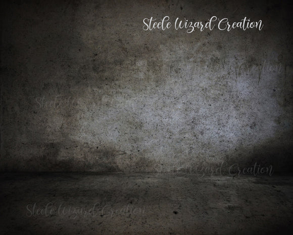 Concrete Room Grunge Digital Backdrop - Steele Wizard Creation