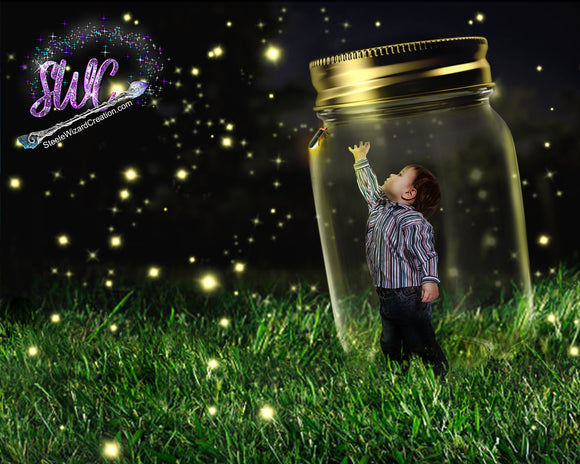 Firefly Jar Backdrop - Steele Wizard Creation