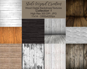 Rustic Wood Backdrops Textures Set 1