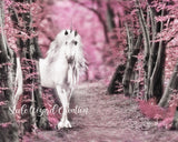 Pink Unicorn Forest Fantasy - Steele Wizard Creation