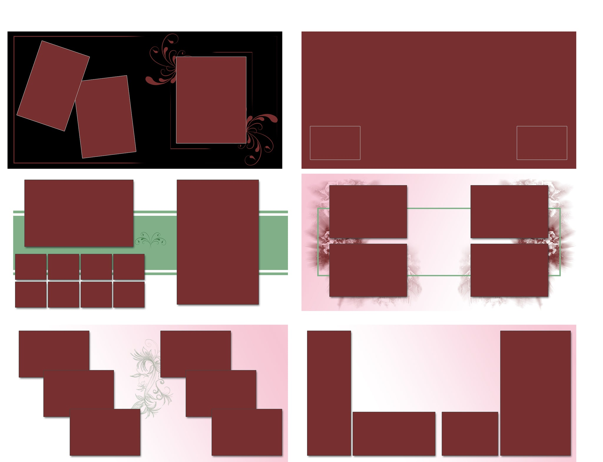 25 Rose StoryBoard Templates set 3