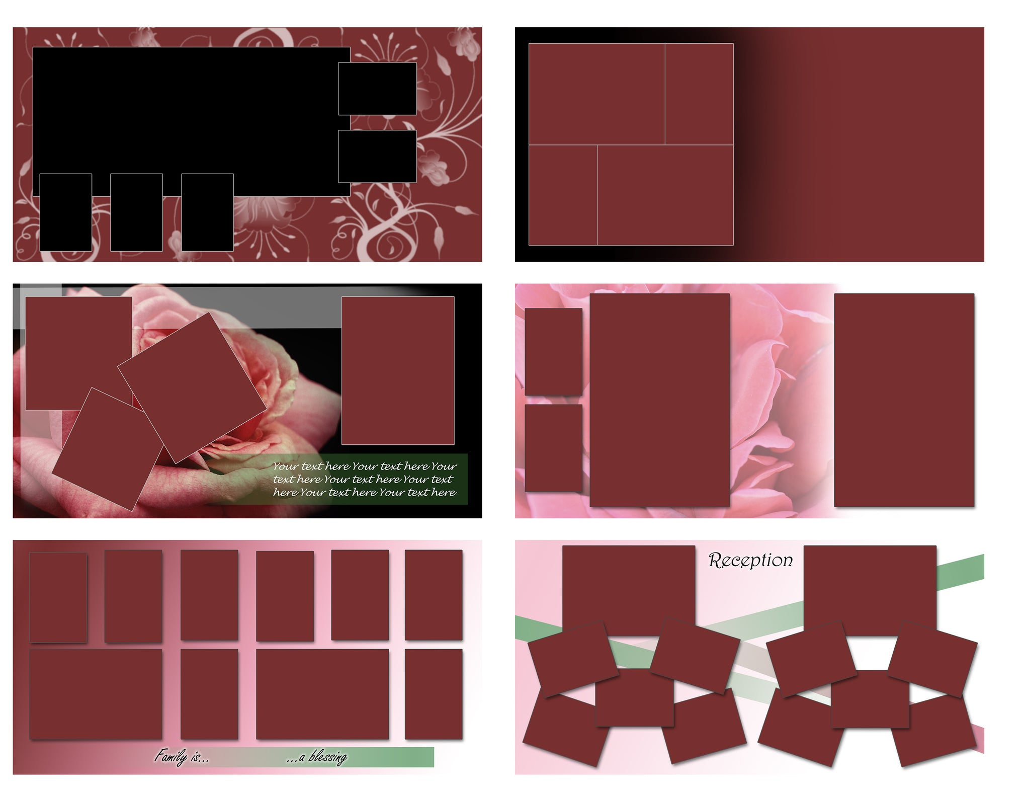 25 Rose StoryBoard Templates set 4