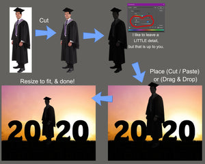 16 Graduate Digital Backdrops, 2021