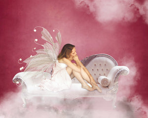 Pink Candy Victorian Chaise Background